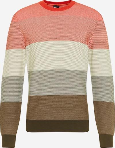 BOSS Casual Pullover 'Kadegro' in beige / braun / rot, Produktansicht