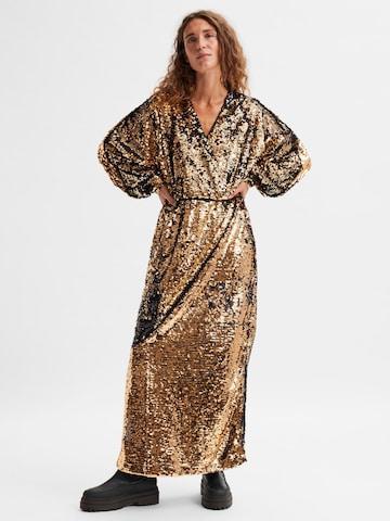 SELECTED FEMME Aftonklänning 'Rosaline' i brons