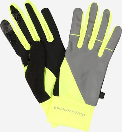 ENDURANCE Sportske rukavice 'Mingus' u neonsko žuta / siva / crna, Pregled proizvoda