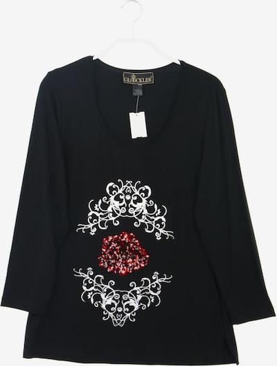 Glööckler Longsleeve-Shirt in S in rot / schwarz / silber, Produktansicht
