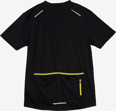 POLARINO Funktionsshirt in gelb / schwarz / weiß, Produktansicht