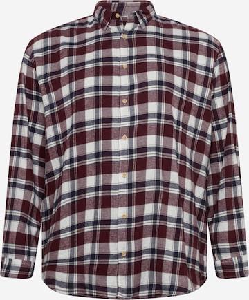 Jack & Jones Plus Hemd 'LAIN' in Rot