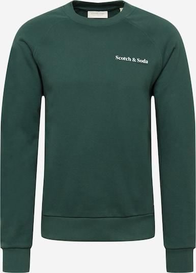 Bluză de molton SCOTCH & SODA pe verde / alb, Vizualizare produs