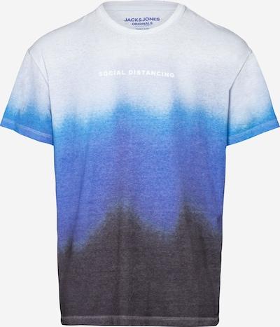 JACK & JONES T-Shirt en bleu / noir / blanc, Vue avec produit