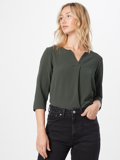 ABOUT YOU Bluse 'Emmi' in dunkelgrün, Modelansicht