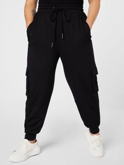 Noisy May Curve Pantalón cargo 'PALMA' en negro, Vista del modelo