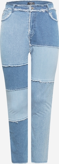 Missguided Plus Jeans 'FRAY' in rauchblau / blue denim / hellblau, Produktansicht