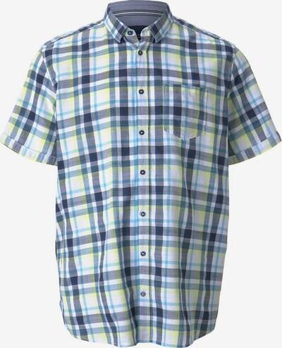 TOM TAILOR Men + Hemd in blau / gelb / weiß, Produktansicht