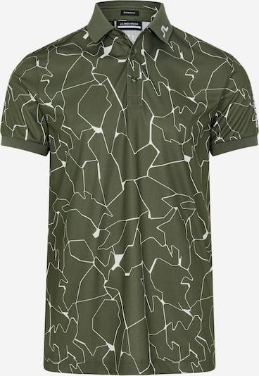 J.Lindeberg Functioneel shirt in de kleur Groen / Wit, Productweergave