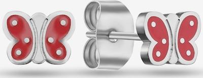 FAVS Ohrringe in hellrot / silber, Produktansicht