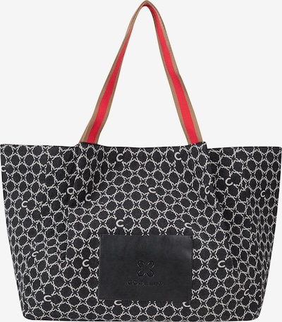 CODELLO Logo-Shopper aus Canvas in grau, Produktansicht