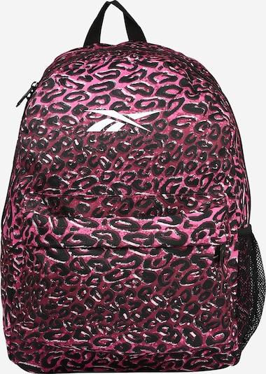 Reebok Sport Sac à dos de sport en rose / rouge foncé / noir / blanc, Vue avec produit