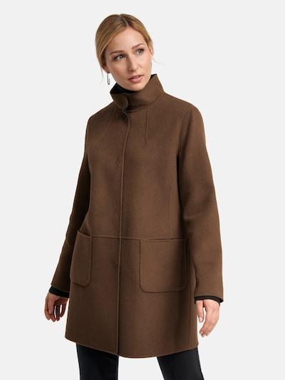 Basler Between-Seasons Coat in Brown / Black, View model