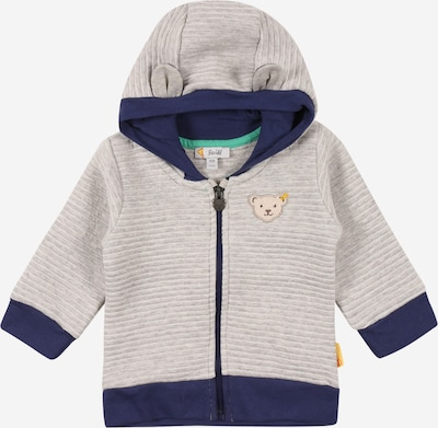 Steiff Collection Sweatjacke in marine / hellgrau / graumeliert, Produktansicht