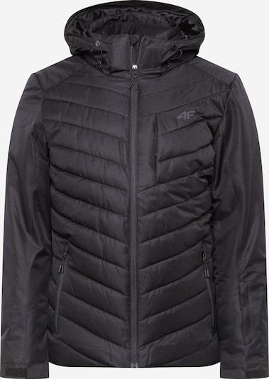 4F Outdoorjas in de kleur Zwart, Productweergave