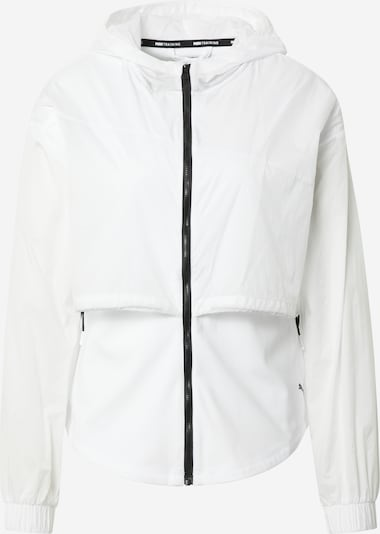 PUMA Sportjacke in schwarz / weiß, Produktansicht