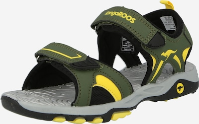 KangaROOS Sandale 'Mont' in gelb / oliv, Produktansicht