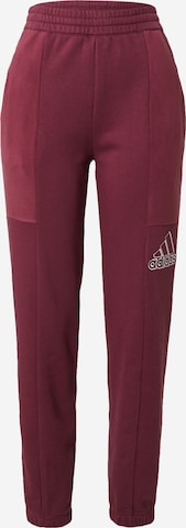 ADIDAS PERFORMANCE Workout Pants in Red