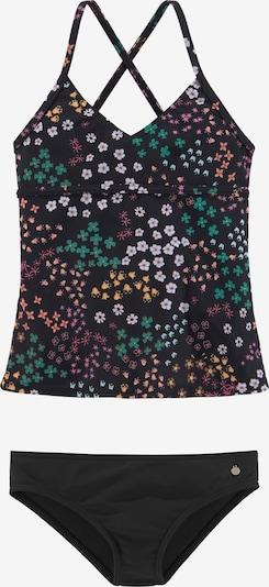 s.Oliver Tankini in grün / pink / schwarz / weiß, Produktansicht