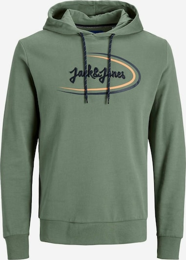 JACK & JONES Sweat-shirt en vert / abricot / noir, Vue avec produit