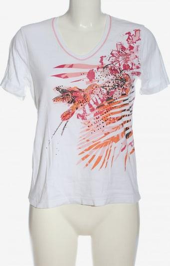 Olsen V-Ausschnitt-Shirt in L in hellorange / pink / weiß, Produktansicht