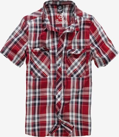 Marškiniai 'Roadstar' iš Brandit , spalva - tamsiai mėlyna / vyno raudona spalva / karmino raudona / balta, Prekių apžvalga