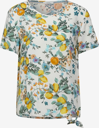 CECIL Blouse in Light blue / Yellow / Green / Orange / White, Item view
