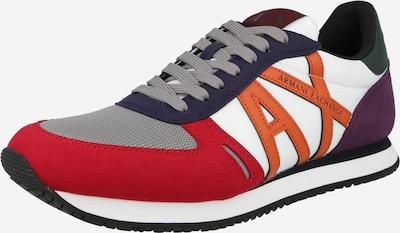 Sneaker low ARMANI EXCHANGE pe mov închis / portocaliu / roșu / alb, Vizualizare produs