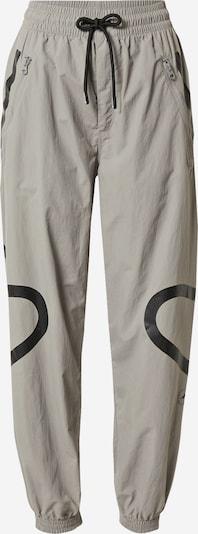 adidas by Stella McCartney Sporta bikses, krāsa - pelēks / melns, Preces skats