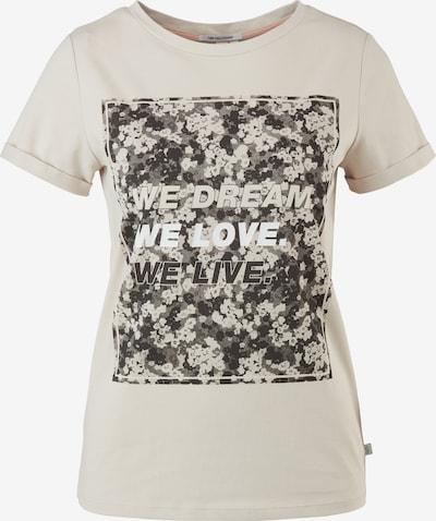 Q/S by s.Oliver Shirt in beige / braun / weiß, Produktansicht
