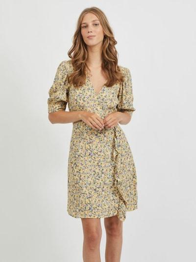 VILA Kleid in gelb / lila / weiß, Modelansicht