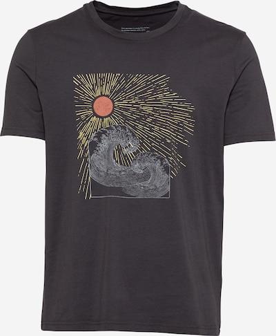 ARMEDANGELS Shirt 'JAAMES SUN WAVES' in de kleur Geel / Grijs / Lichtrood / Zwart, Productweergave