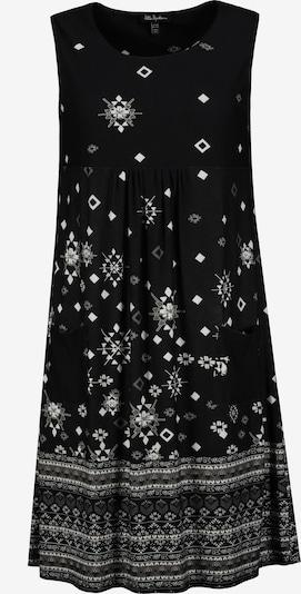 Ulla Popken Kleid in grau / schwarz / weiß, Produktansicht