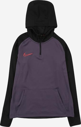 NIKE Sweatshirt in dunkellila / knallrot / schwarz, Produktansicht