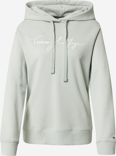 TOMMY HILFIGER Sweat-shirt en menthe / blanc, Vue avec produit