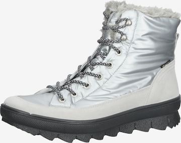 Legero Lace-Up Ankle Boots in Silver