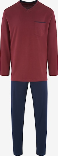 SEIDENSTICKER Pyjama lang in de kleur Navy / Wijnrood, Productweergave