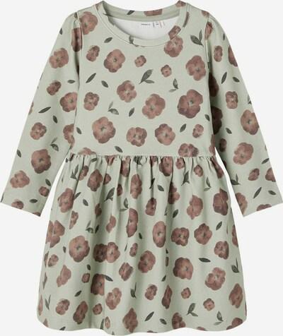 NAME IT Kleid in braun / pastellgrün, Produktansicht