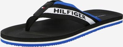 TOMMY HILFIGER Sandalias de dedo en azul / negro / blanco, Vista del producto