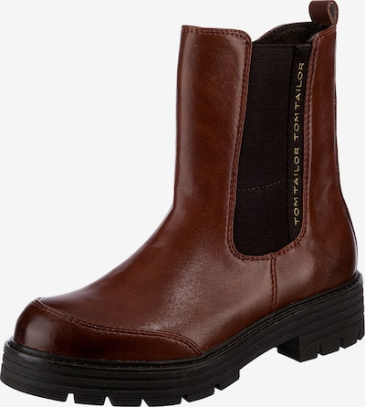 TOM TAILOR Chelsea Boots in Brown / Black, Item view