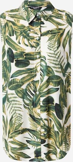 ZABAIONE Bluse 'Alisa' in grün / oliv / weiß, Produktansicht