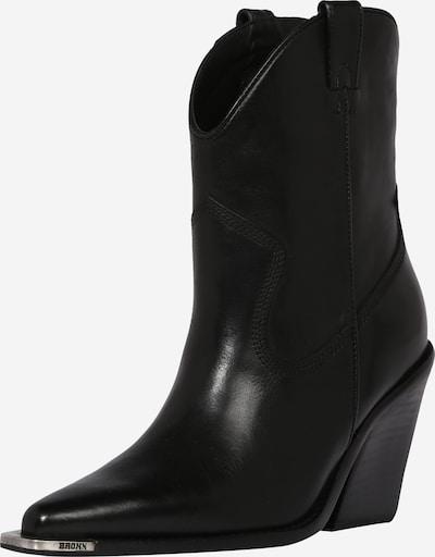 Cizme de cowboy BRONX pe negru, Vizualizare produs