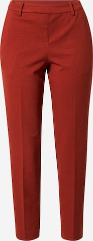 TOM TAILOR Pleat-front trousers 'Mia' in Red