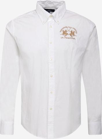 La Martina Hemd in Weiß