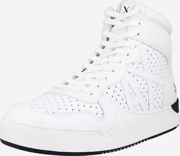 Sneaker înalt de la ARMANI EXCHANGE pe alb