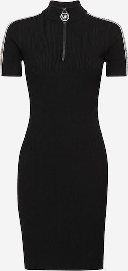 MICHAEL Michael Kors Vestido de punto en piel / negro / blanco, Vista del producto