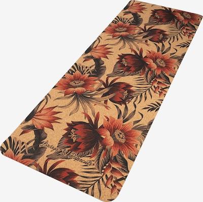 paprcuts Mat 'Pua' in de kleur Lichtbruin / Donkeroranje / Rood / Zwart, Productweergave