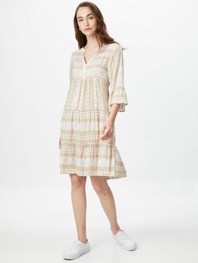 Sublevel Kleid in beige / weiß, Modelansicht