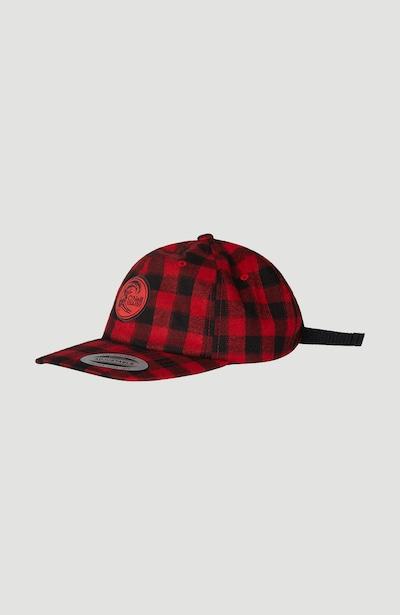 O'NEILL Hoed 'Check' in de kleur Rood / Zwart, Productweergave