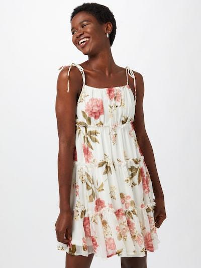 olíva / rózsaszín / fehér VERO MODA Nyári ruhák 'BRIONY', Modell nézet